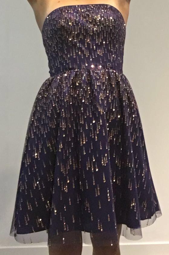 Purple Formal Adrianna Papell Dress