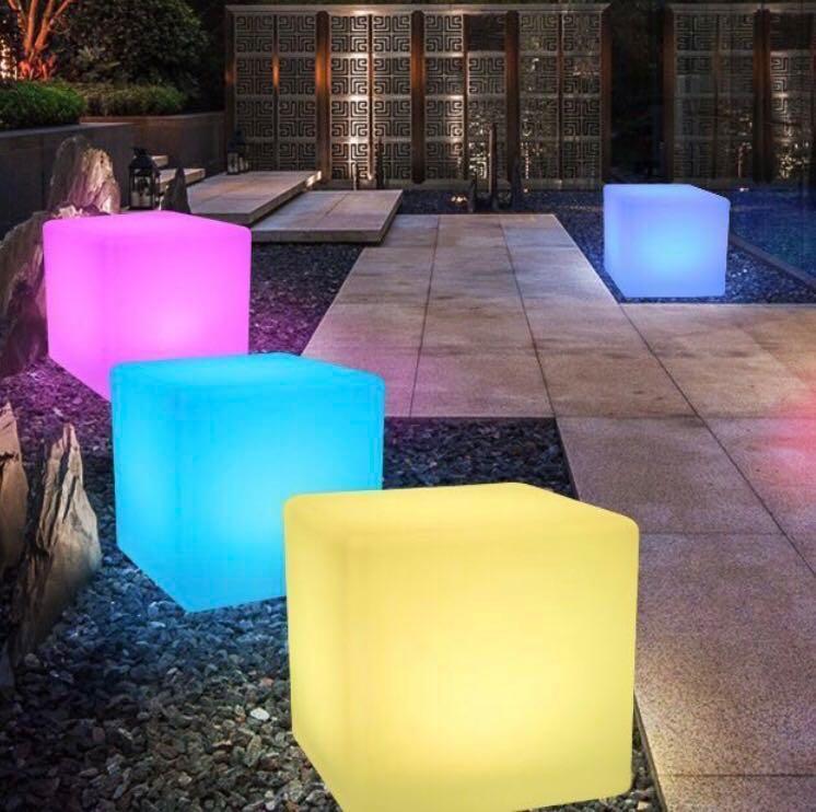 Rainbow Merry LED cube - Ready stock! Weatherproof