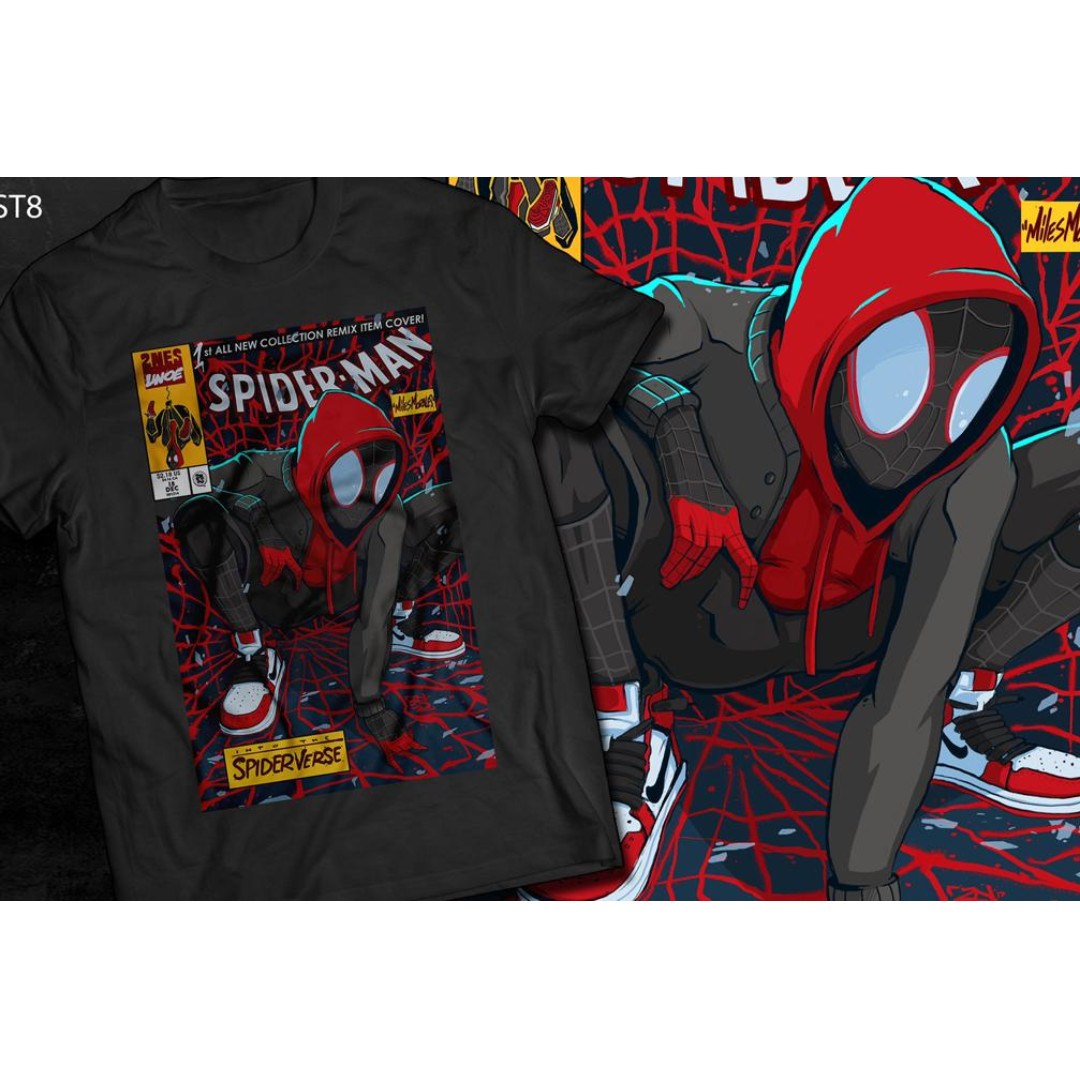 d8fdc201 T-shirt Spiderman Miles Morales, Men's Fashion, Clothes, Tops on Carousell
