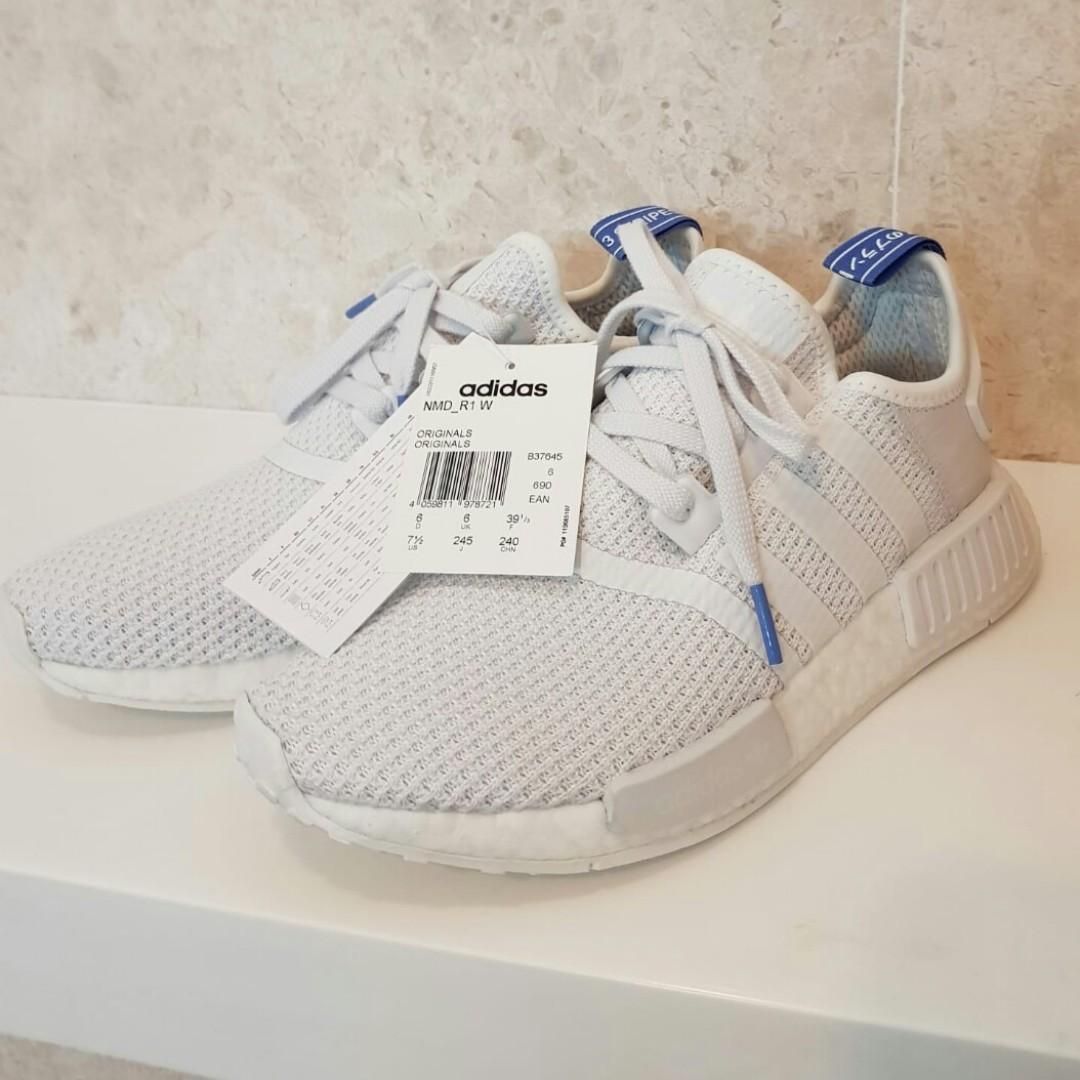 5ebe10494 UK6 Adidas Womens NMD R1 Crystal White