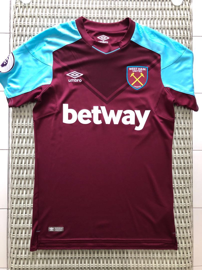 Umbro💯% Authentic West Ham United home jersey w EPL badge for SGD ... 8a84d55511a6