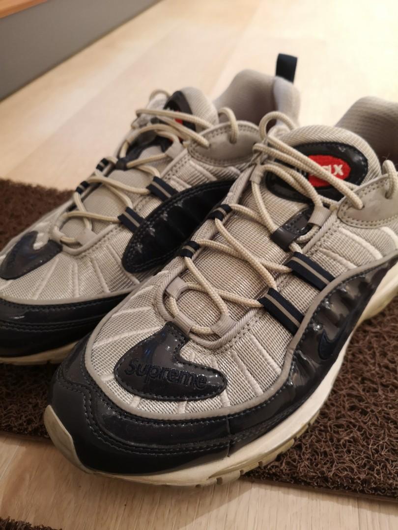 64c90333d6 Used Nike Air Max 98 x Supreme US10.5, Men's Fashion, Footwear ...