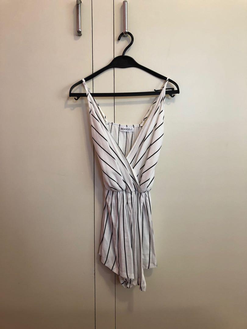 White striped playsuit / romper