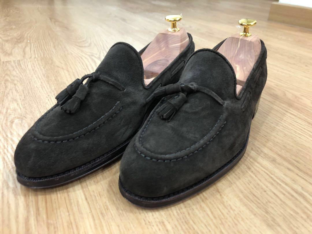 Yanko Dark Brown Suede Tassel Loafers