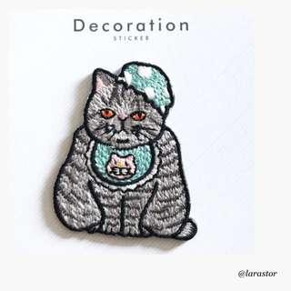 Bn cat iron on patch