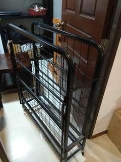 Foldable metal bed frame