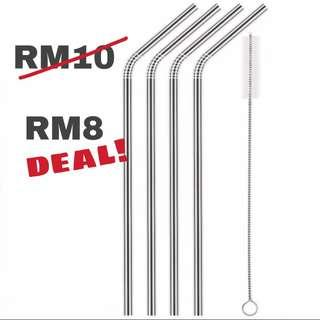 CLEARANCE Stainless Steel Straws #apr10