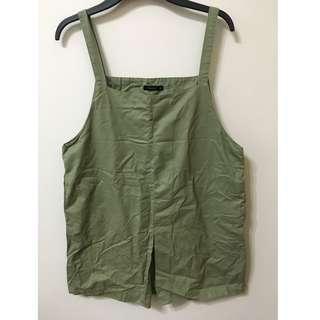 Pazzo 綠色寬鬆吊帶裙
