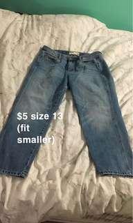 Garage Mom Jeans Light Blue Wash Size 13