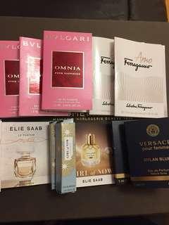 BVLGARI香水 1.5ml 存貨:3,Salvatore Ferragamo 香水1.5ml 存貨:2,Elie saab香水 1ml 存貨:2,Elie saab香水 1ml 存貨:2,Versace香水1ml 存貨:2,