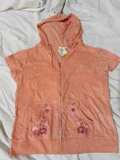Shirt hoodie top (peach color)