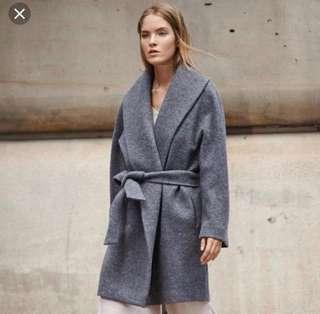 Club Monaco Rylie wrap coat- Black