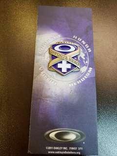 絕版 OAKLEY INFINITE HERO PINS 襟章 2011