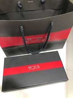 Tumi paper bag and long wallet box