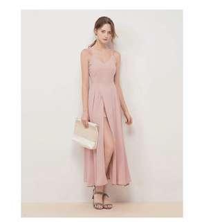 Halter Split Long Dress