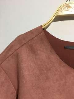 Suede Salmon-Pink Top