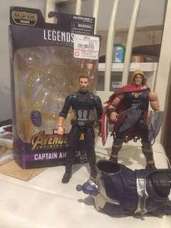Marvel Legends Captain America Infinity War, Thor Odinson & Thanos BAF