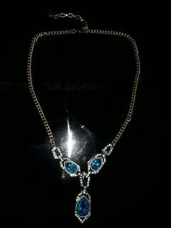 Givenchy Vintage Necklace with Rhinestone Authentic