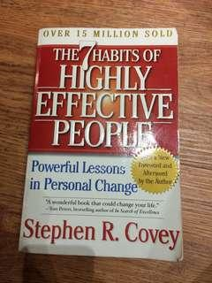 The 7 habits of effective people by Stephen r. Covey