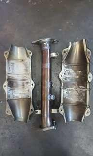 S2000 js racing test pipe with cover