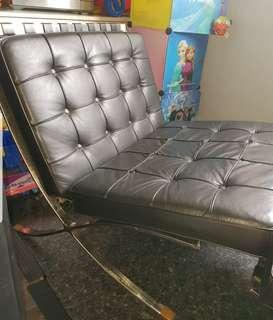 Barcelona, knoll, real genuine leather, designer chair