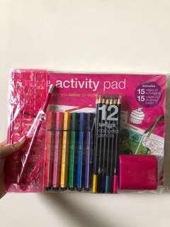 smiggle christmas pink stationery gift set