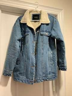 Women's Jeans Sherpa Jacket