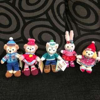 Instock hk Disneyland duffy, Shelliemay, gelatoni, Stella Lou and cookie plush keychain