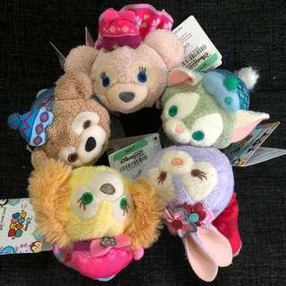 Instock hk Disneyland duffy, Shelliemay, gelatoni, Stella Lou and cookie Christmas Tsum Tsum plush