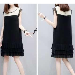 🚚 women's doll vest skirt chiffon dress pleated skirt/ CNY