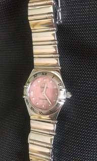Omega Ladies Watch - Rose gold with diamonds