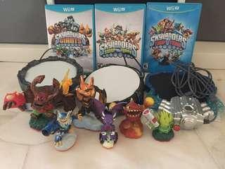 Nintendo Wii U Skylanders Bundle Trap Team Swap Force Giants Portal