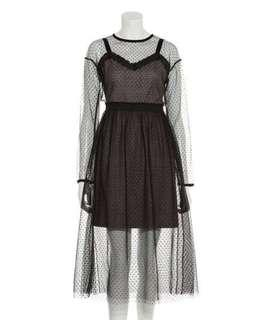 全新Lilybrown透膚感兩件式洋裝