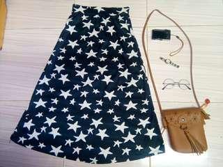 Black Starry Skirt