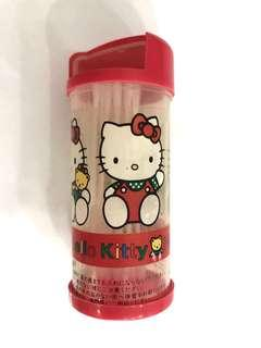 Auth Hello Kitty Small Container for Cotton Ear Bud with Turn Cap