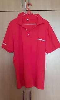 Starbucks red polo tee tshirt