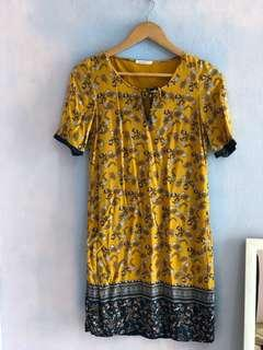 Promod custard navy batik look a like