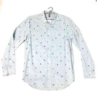 Christmas Button Up Shirt