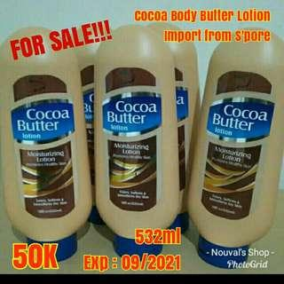 Body Butter Lotion Cocoa