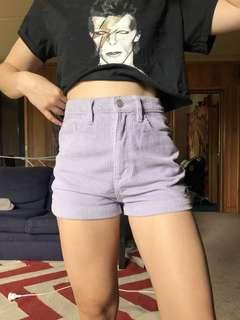 Lilac purple GLASSONS corduroy shorts size 6