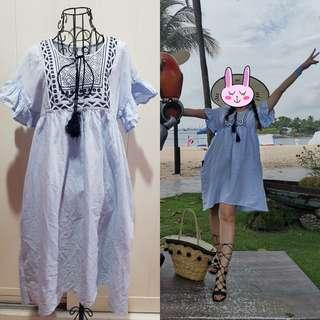 Mango Embroidery Dress