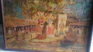 Lukisan Ssujoyono..pembukaan psr seni ancol..