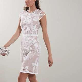Cut label Reiss white lace dress