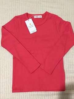 (含運)全新正韓女童粉紅上衣 120cm