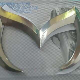 M Metal Badge For For Bonet Or Boot For Mazda.