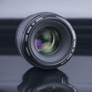 EF 50mm f/1.4 USM (with UV protector)