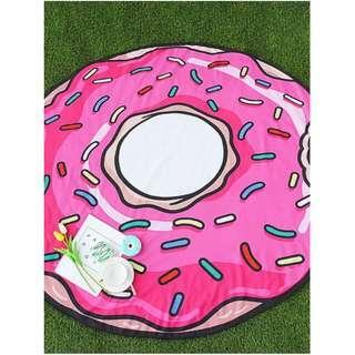 NEW  Pink Doughnut Shape Cute Beach Sheet/Blanket