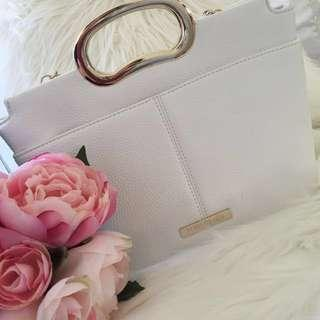 Forever New White Clutch Handbag