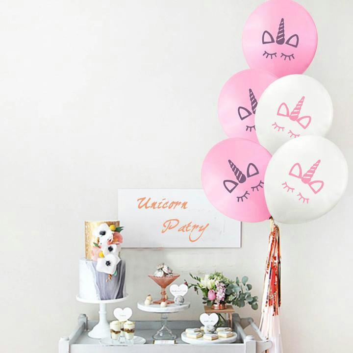 785295dff06184 10 PCS Unicorn Bridal Shower Balloons for Hendo Decoration
