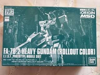HG FA-78-2 Heavy Gundam Roll out Color